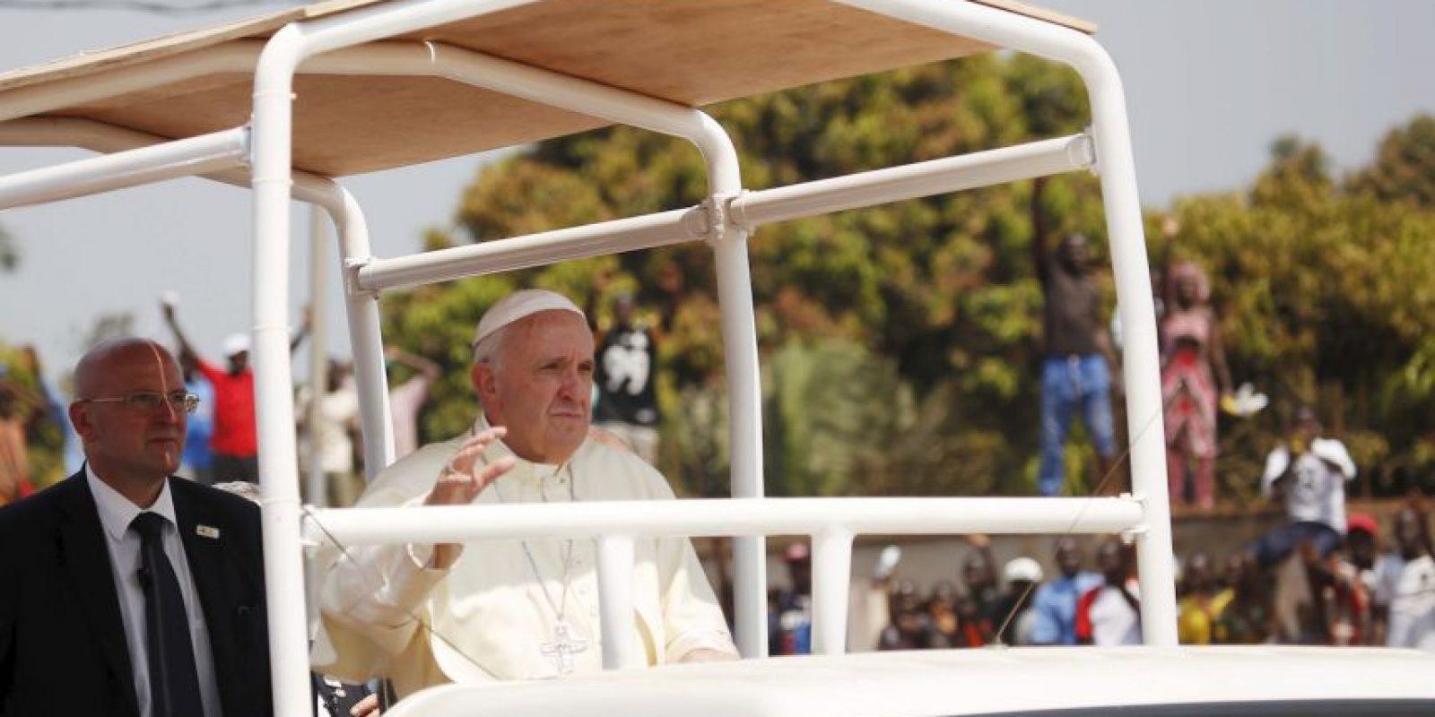 La visita a la República Centroafricana marca el final del primer viaje apostólico de Francisco al continente Foto:AP