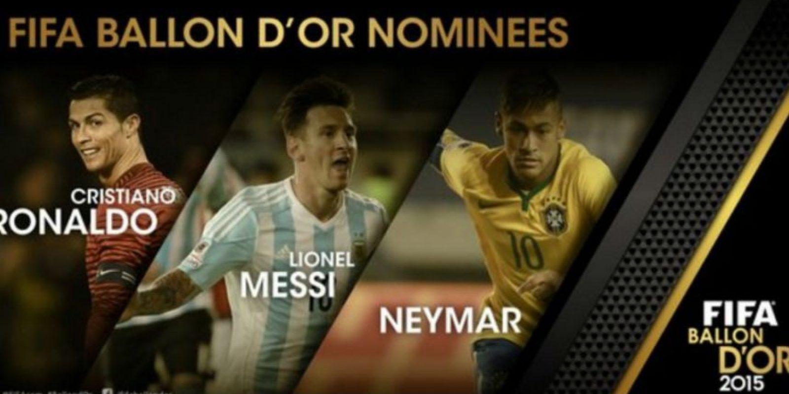Ellos son los finalistas del Balón de Oro. Foto:twitter.com/FIFAcom