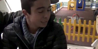 El niño no contenía el llanto. Foto:twitter.com/realmadrid