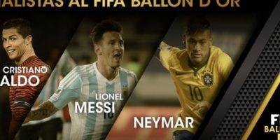 Messi, Neymar y Cristiano Ronaldo compiten por el Balón de Oro