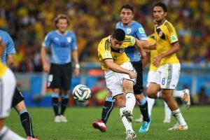 Los pasados ganadores: James Rodríguez y una volea en los octavos de final del Mundial de Brasil 2014 Foto:FIFA