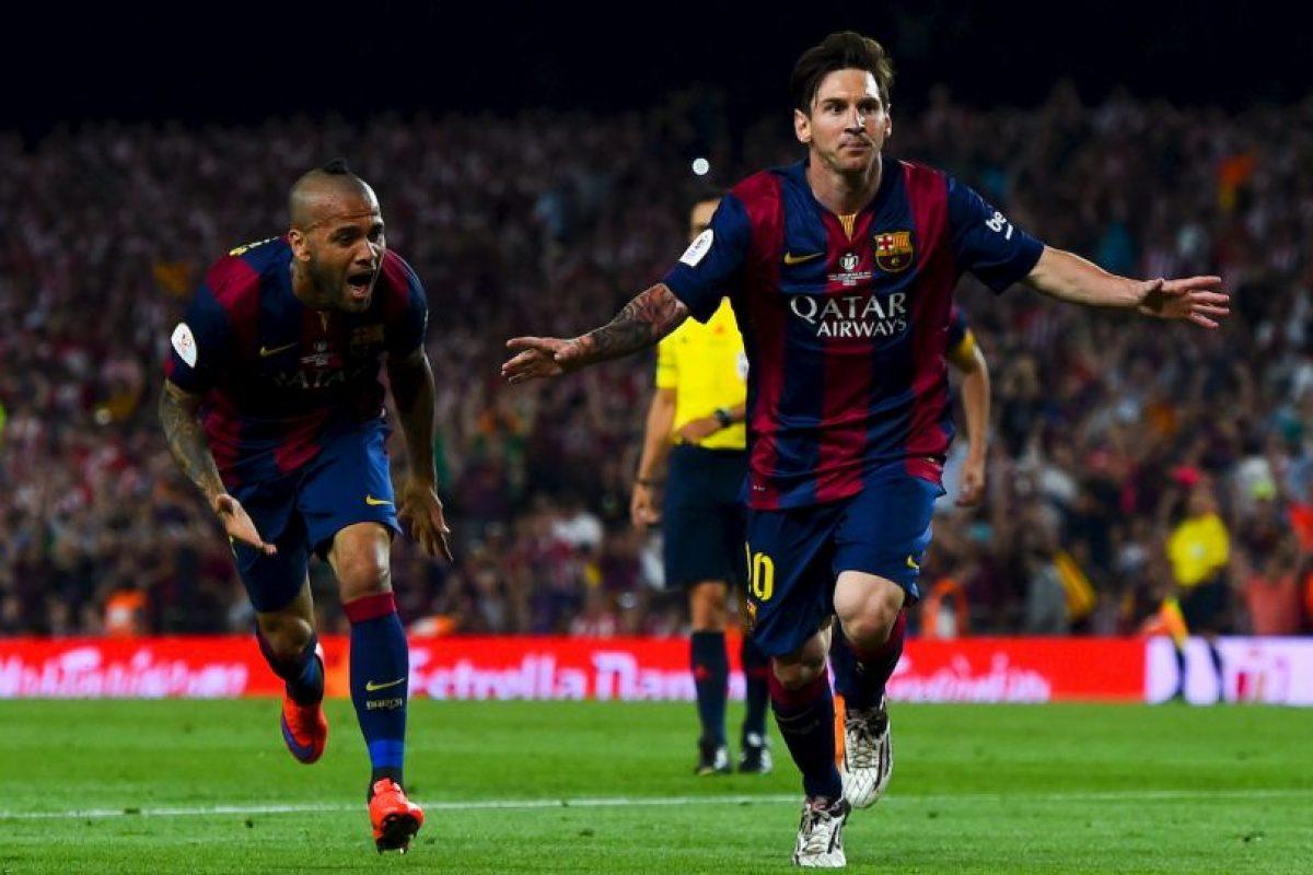 Lionel Messi y su jugada en la final de la Copa del Rey Foto:Getty Images