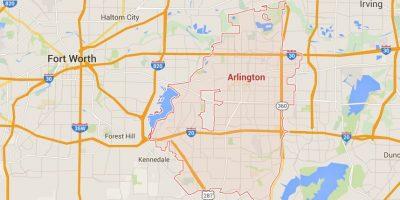 Todo ocurrió Arlington, Texas. Foto:Google Maps