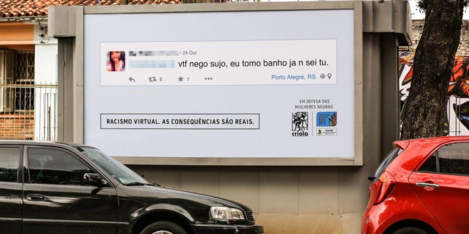 """""""Negro sucio, no sé usted, pero yo me lavo."""" Foto:racismovirtual.com.br/"""