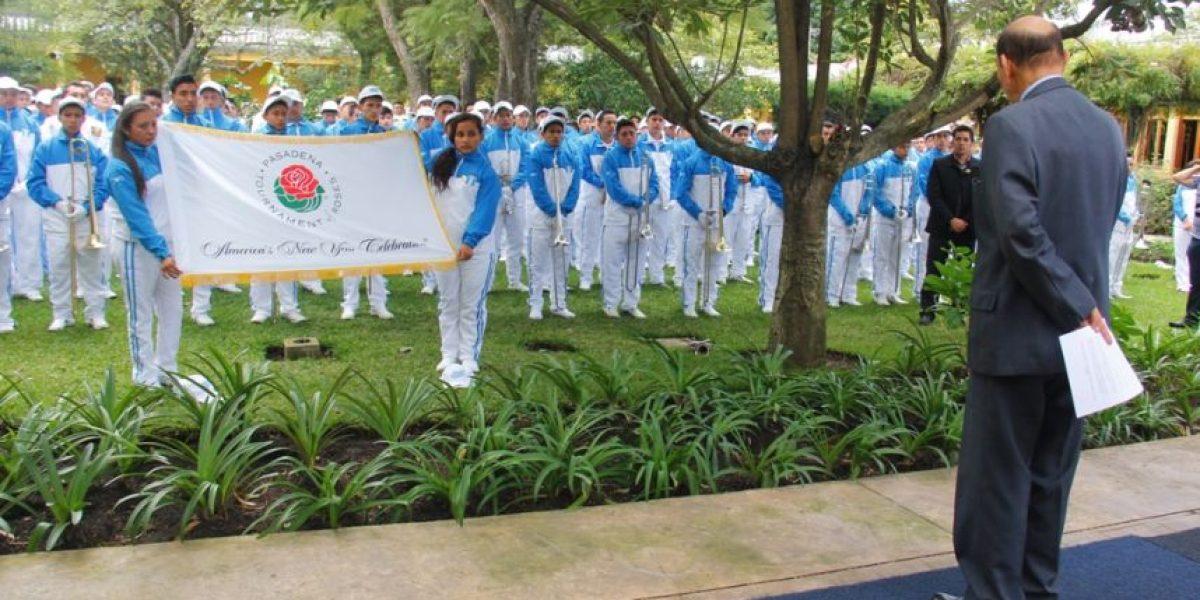 Banda del Instituto Pedro Molina está lista para el Desfile de las Rosas