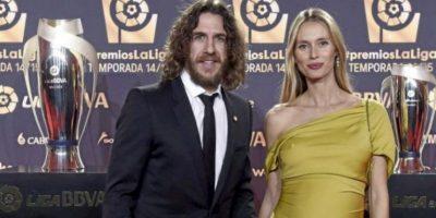 En la alfombra roja también desfilaron el exfutbolista Carles Puyol y su pareja Vanesa Lorenzo Foto:La LIga
