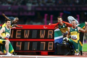 Después de haber impuesto el récord mundial en los Juegos Paralímpicos de Londres 2012 Foto:Getty Images
