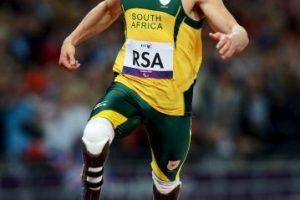4×100, Juegos Paralímpicos de Londres 2012, donde rompió su último récord mundial Foto:Getty Images