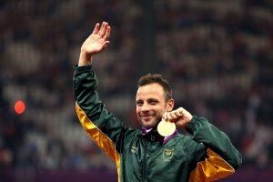 Medalla de oro en la compentecia de 400 metros para hombres, en los Juegos Paralímpicos de Londres 2012 Foto:Getty Images
