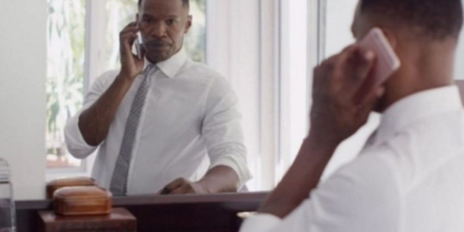 El actor Jamie Foxx con el iPhone 6s. Foto: Apple