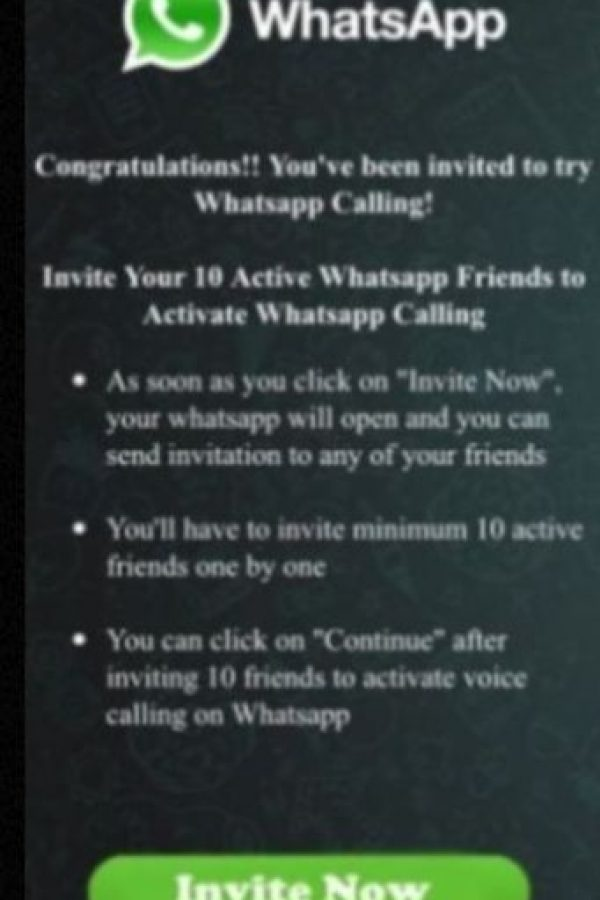 Ofrece a los usuarios obtener la opción de llamadas gratuitas siempre y cuando inviten a 10 de sus amigos a unirse. Foto:vía Tumblr.com