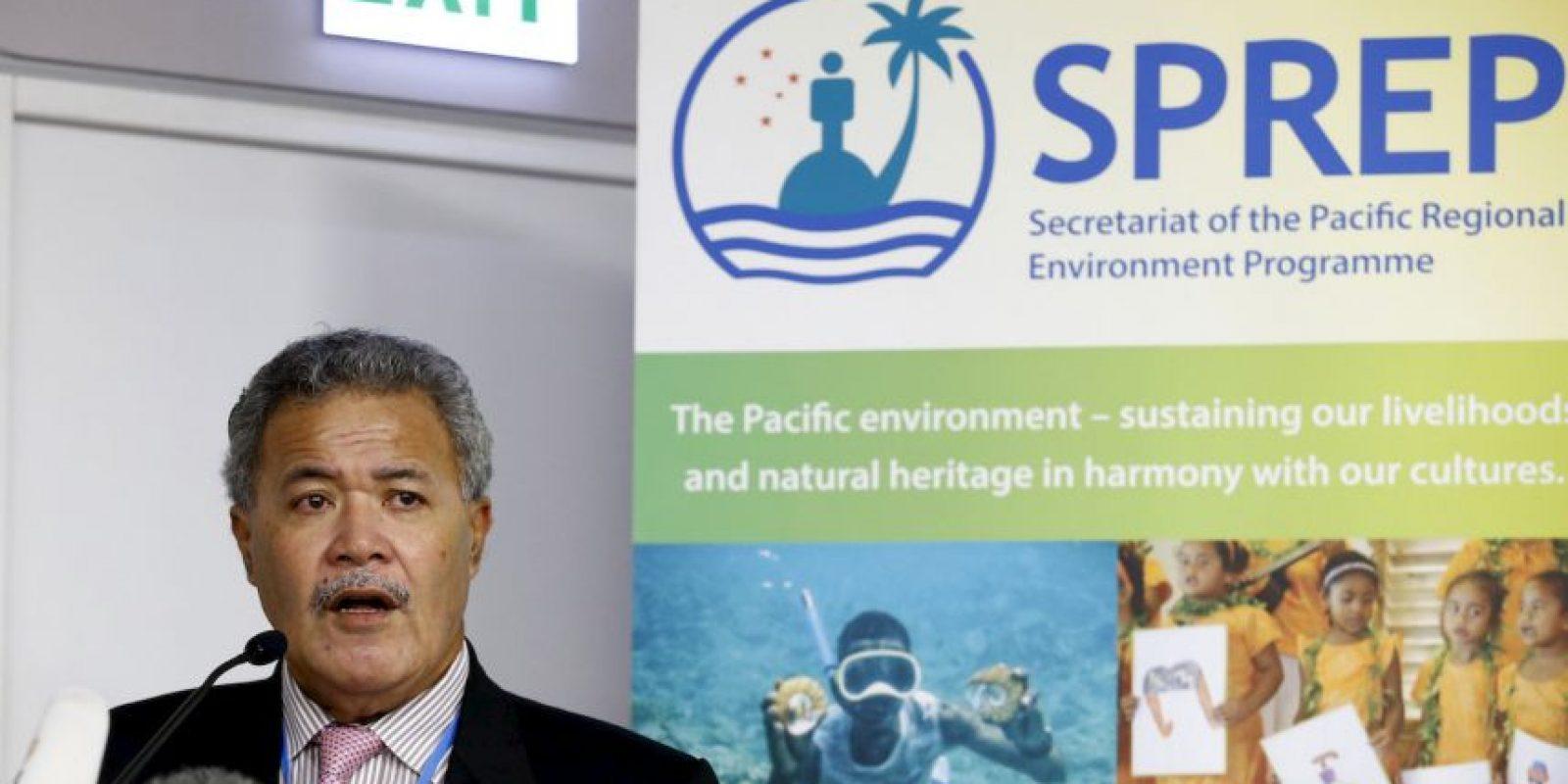 El primer ministro de la isla pidió ayuda durante la Cumbre del Clima (COP21) en París. Foto:AP