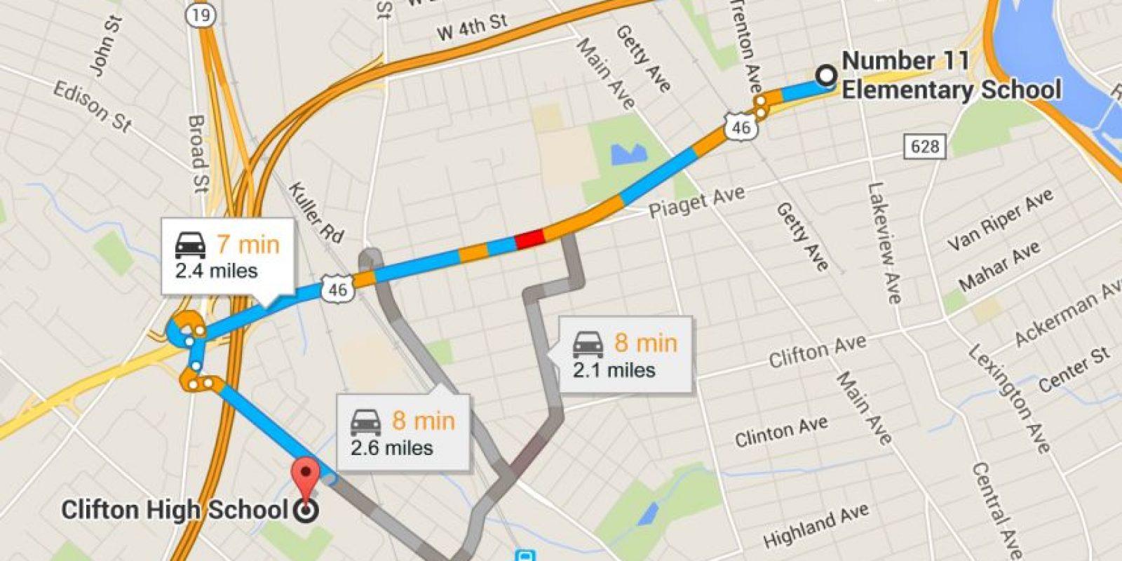 De acuerdo con Google Maps, las instituciones no están muy retiradas. Foto:Vía Google Maps