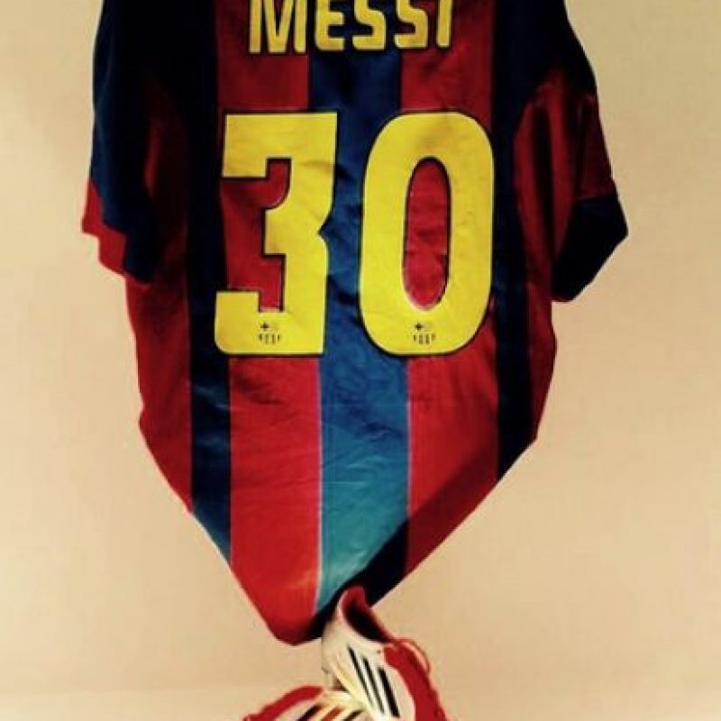 Messi celebró con esta postal Foto:Vía instagram.com/leomessi