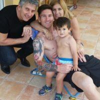 Y momentos íntimos con su familia Foto:Vía instagram.com/leomessi