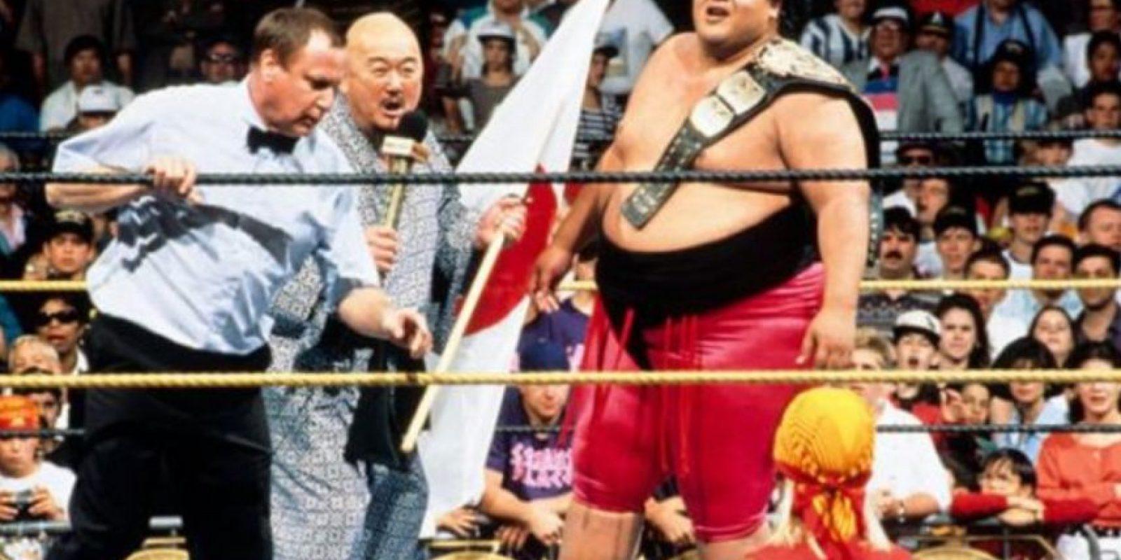 3. Yokozuna. Ganó y perdió el título en Wrestlemania IX en 1993 Foto:WWE