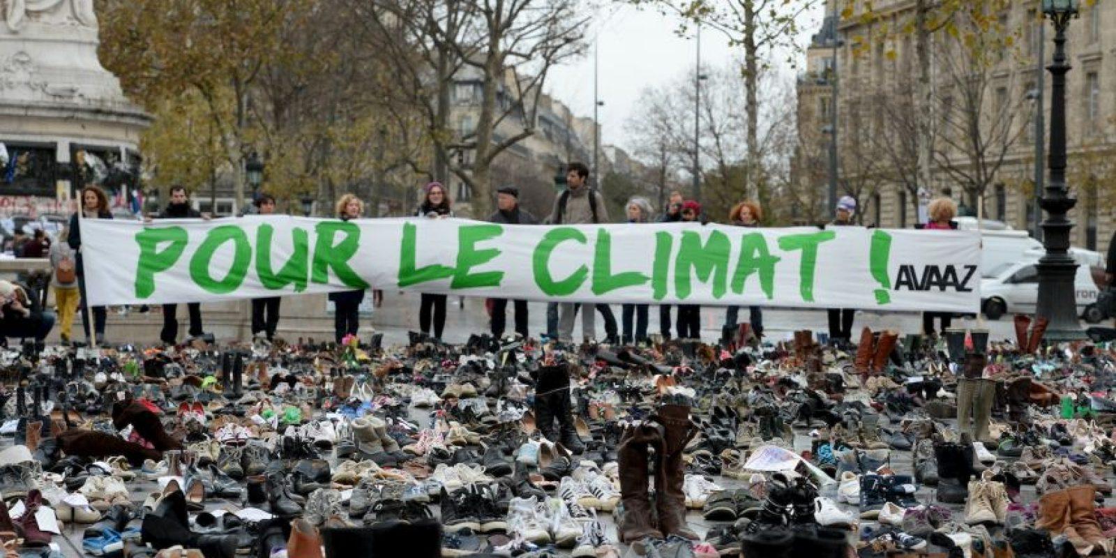 Protestas en París por el cambio climático. Foto:AFP