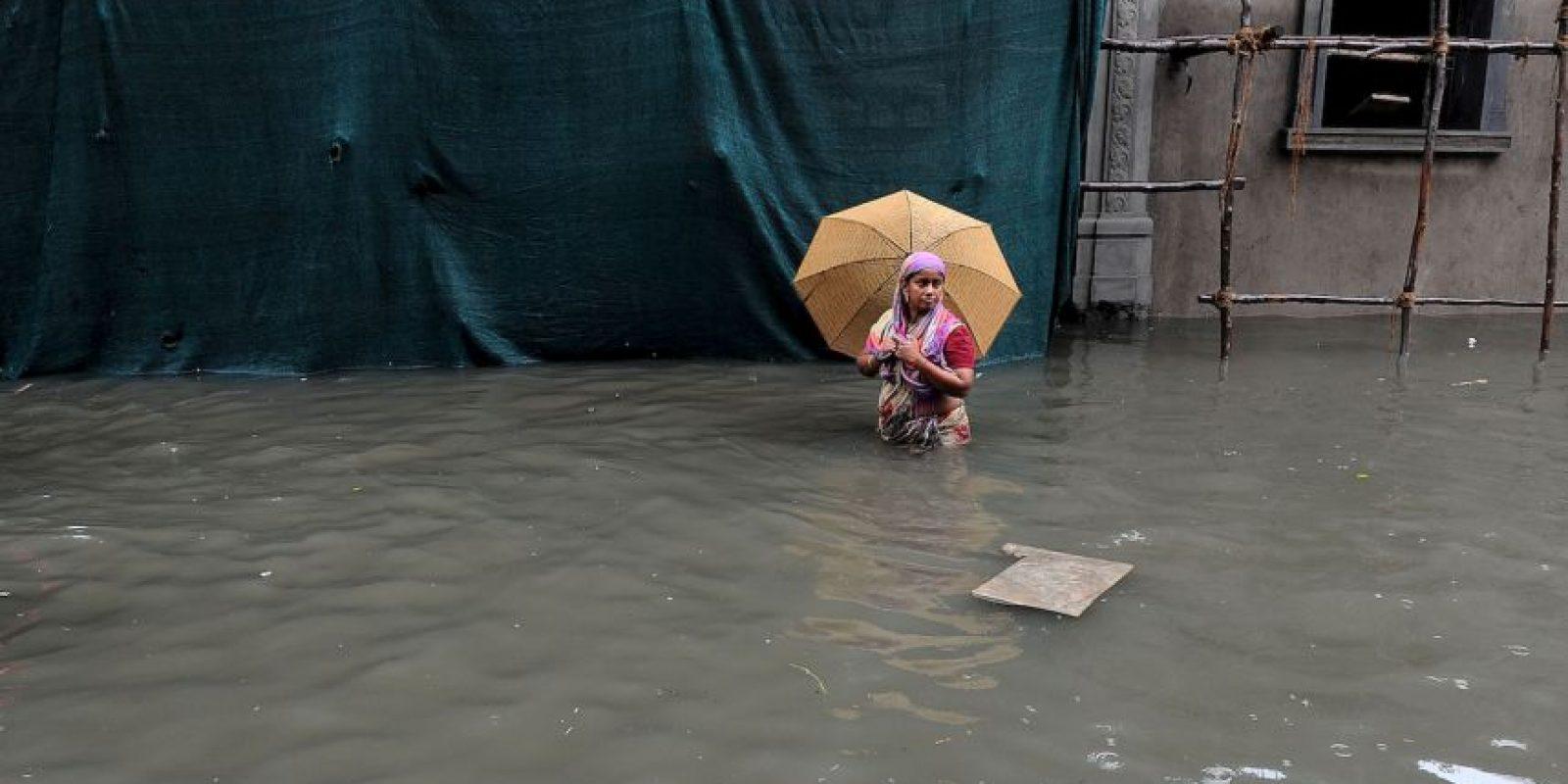 Inundaciones en la India han dejado un saldo de 280 muertos. Foto:AFP