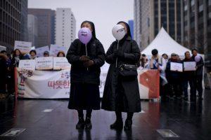 Actividad contra el cambio climático en Seúl. Foto:AFP