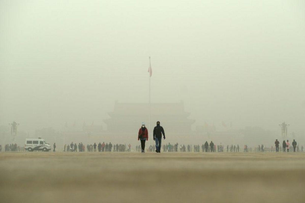 Contaminación en China. Foto:AFP