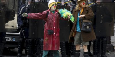 Protestas por el cambio climático en París, Francia. Foto:AFP