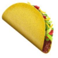 Taco. Foto:vía emojipedia.org