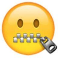 Rostro con la boca de cierre. Foto:vía emojipedia.org
