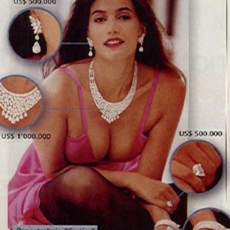 """Sandra Murcia, para los años 90, fue considerada como la """"Cindy Crawford colombiana"""". En 1994 se casó con Efraín Hernández, reconocido capo del Cartel del Norte del Valle. Se divorció, pues el tren de vida de Sandra era elevado. Foto:vía Colarte"""