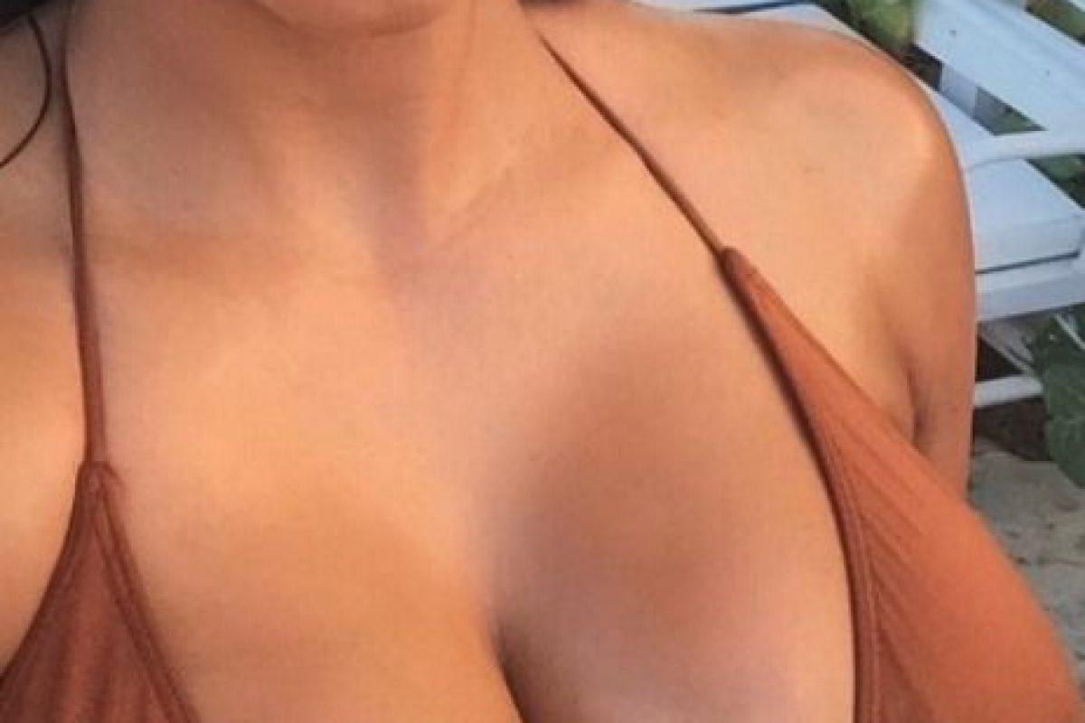Y de sus pechos Foto:vía instagram.com/kimkardashian
