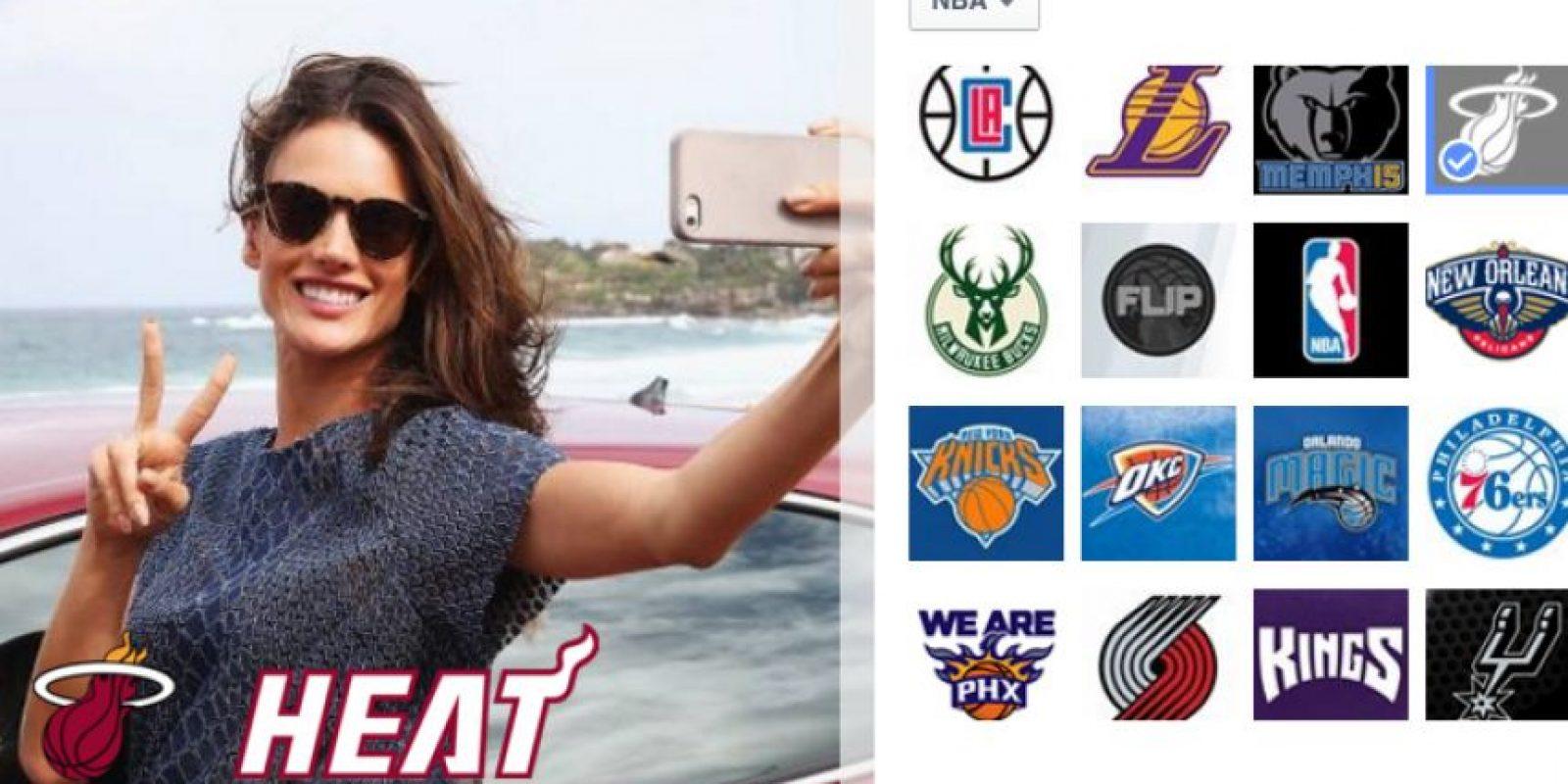 Pero esto no es sólo para los aficionados al fútbol, también se puede personalizar la foto de perfil con equipos de la NBA, MLB, Copa Davis e incluso, con equipos de la NCAA. Foto:Facebook