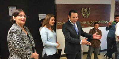 Presidente electo Jimmy Morales visita a connacionales en Estados Unidos