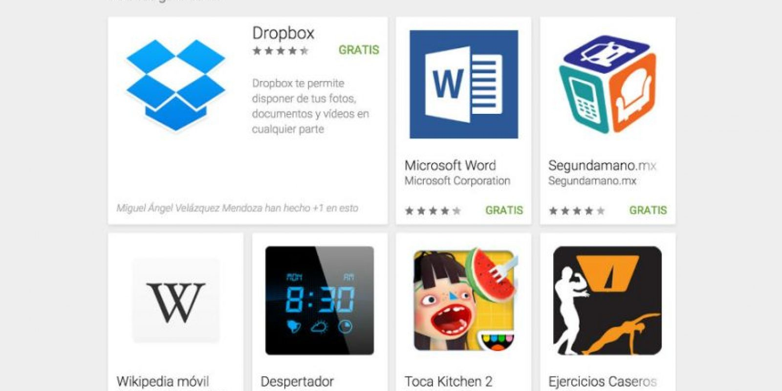 Conozcan las 50 mejores aplicaciones del 2015. Foto:Google.
