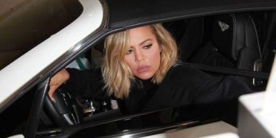 Su hermana Khloé Kardashian fue captada en su visita al hospital. Foto:Grosby Group