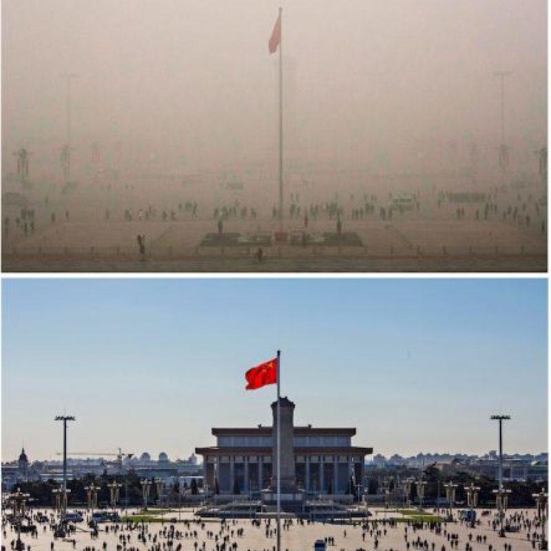 La plaza de Tiananmen, uno de los lugares históricos de la zona Foto:Getty Images
