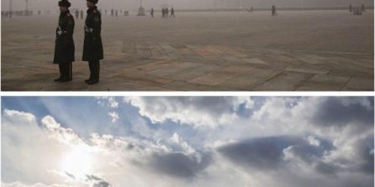 Fotos: El antes y después de Beijing donde se decretó