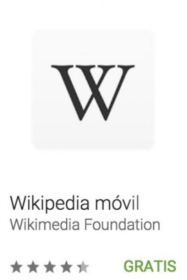 1- Wikipedia móvil. La app oficial de la enciclopedia gratuita más grande de Internet. Foto:vía Google