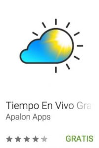 6- Tiempo en vivo gratuito. Fondos animados les informan las condiciones atmosféricas en tiempo real. Foto:vía Google