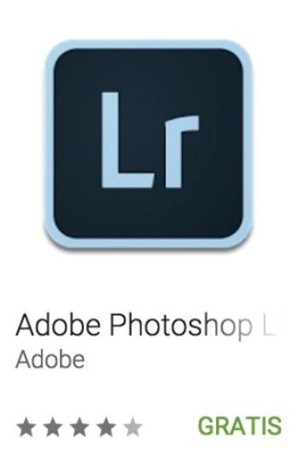 8- Adobe Photoshop Lightroom. Para crear o compartir imágenes con calidad profesional. Foto:vía Google