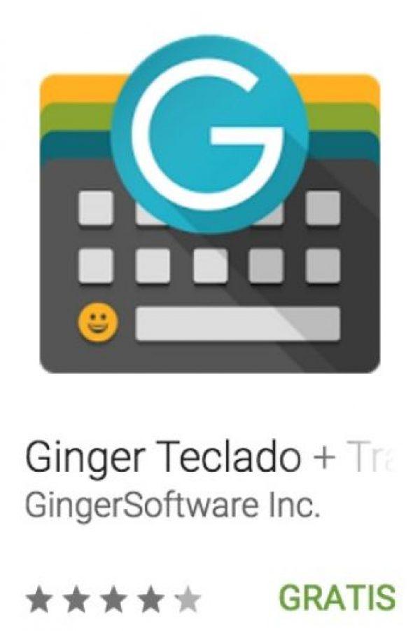 21- Ginger Teclado + Traductor. Corrige la gramática en inglés, la ortografía y puntuación de la manera rápida y eficiente. Foto:vía Google