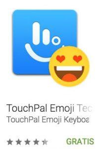 26- TouchPal Emoji Teclado. Les ayuda a ingresar de forma rápida más de mil emojis, emtioconos, mileys y caras de texto en apps como Twitter, WhatsApp, Facebook, WeChat y LINE. Foto:vía Google