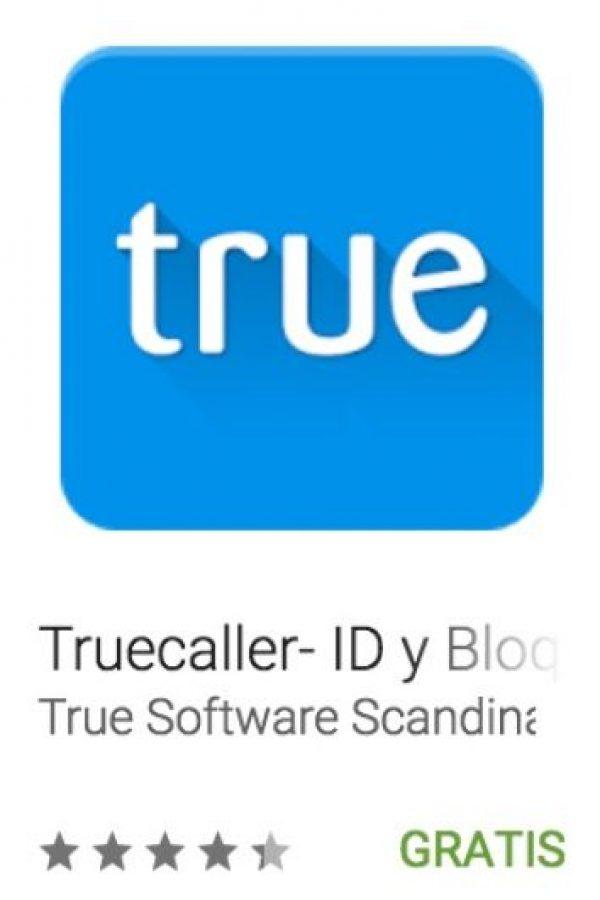 44- Truecaller- ID y Bloqueo. Les permite buscar más allá de sus contactos existentes, identificando llamadas desconocidas, bloqueando llamadas no deseadas y realizando sugerencias sobre sus contactos con base a tiempo y localización. Foto:vía Google