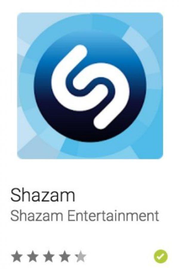 37- Shazam. Les servirá para identificar música, obtener las letras de las canciones y ahora descubrir la música que los artistas mismos descubren. Foto:vía Google
