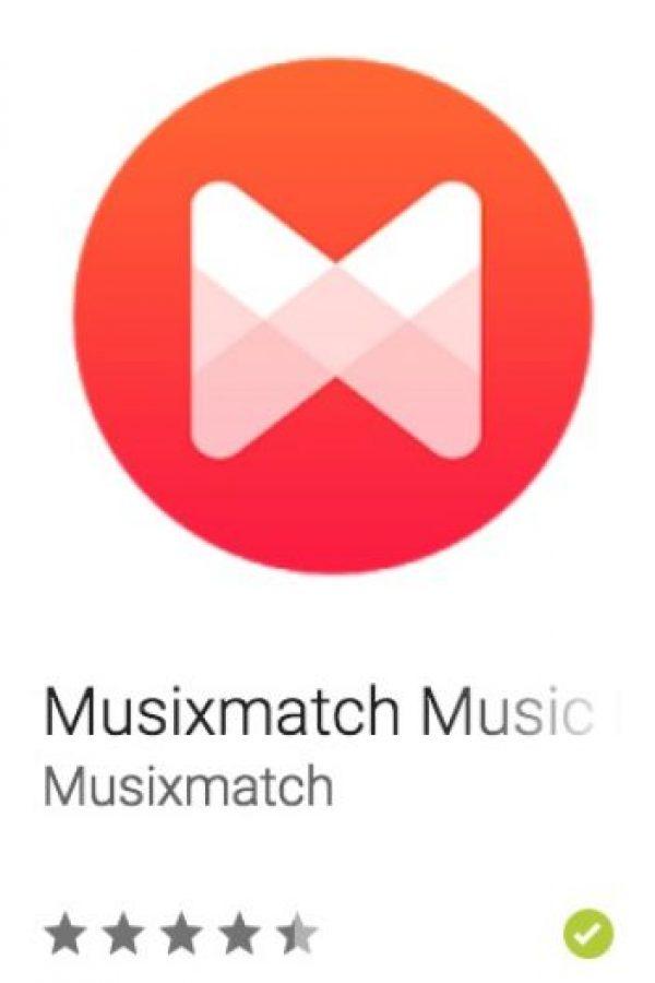 41- Musixmatch Music Player. Es el catálogo de letras más grande del mundo, el cual les permite disfrutar de su música con letras sincronizadas. Foto:vía Google