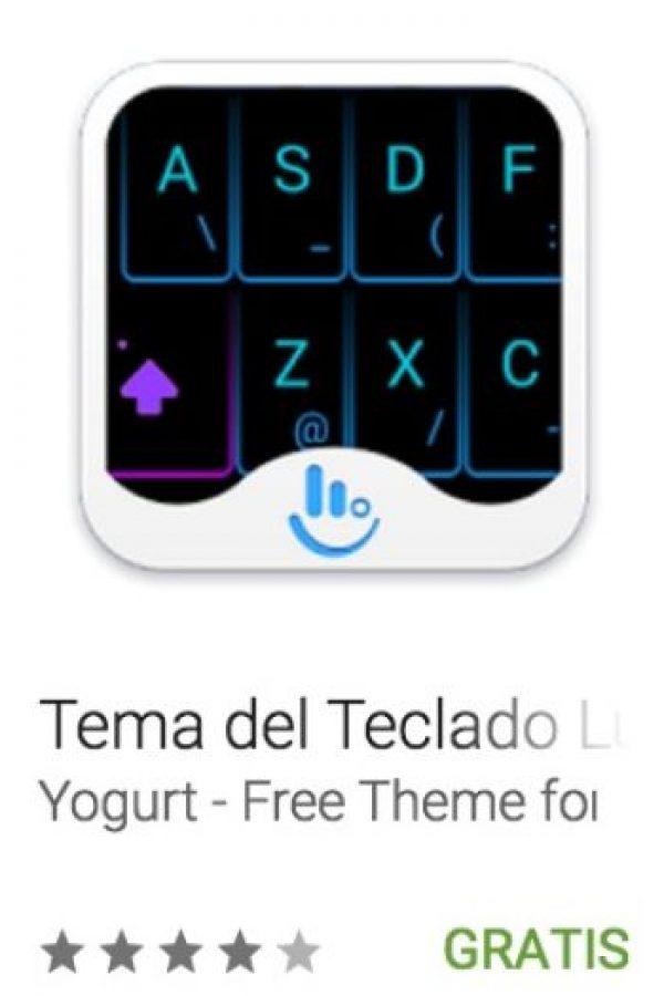 47- Tema del Teclado Luz de Neón. Es un tema de teclado especial y de moda que le dará un nuevo aspecto y sensación a su teclado y sus entradas de texto. Foto:vía Google