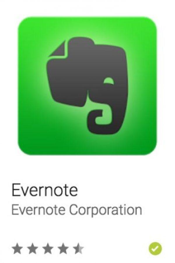 48- Evernote. Es el espacio de trabajo moderno que se sincroniza en todos sus dispositivos. Foto:vía Google
