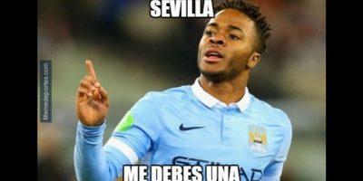 Y Manchester City devolvió al Sevilla a la Europa League. Foto:memedeportes.com
