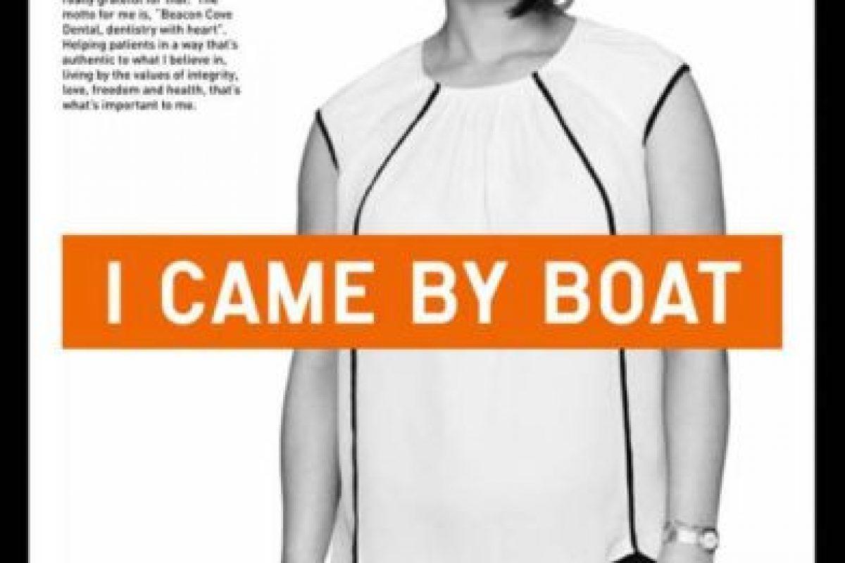 La campaña se basa en historias reales de refugiados. Foto:chuffed.org/i-came-by-boat