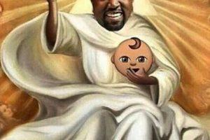 """Y Kanye West es apodado """"Yeezus"""" por el disco que lanzó en 2013 con este nombre. Foto:vía twitter.com"""