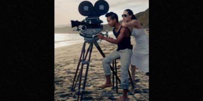 Angelina Jolie junto a su hijo mayor, Maddox. Foto:Vogue Magazine/Annie Leibovitz