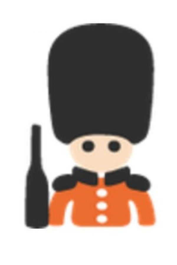 Guardia británico. Foto:vía emojipedia.org